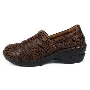 Born Peggy Block Heel Slip-on Clogs Size 10